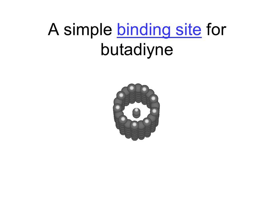 A simple binding site for butadiynebinding site