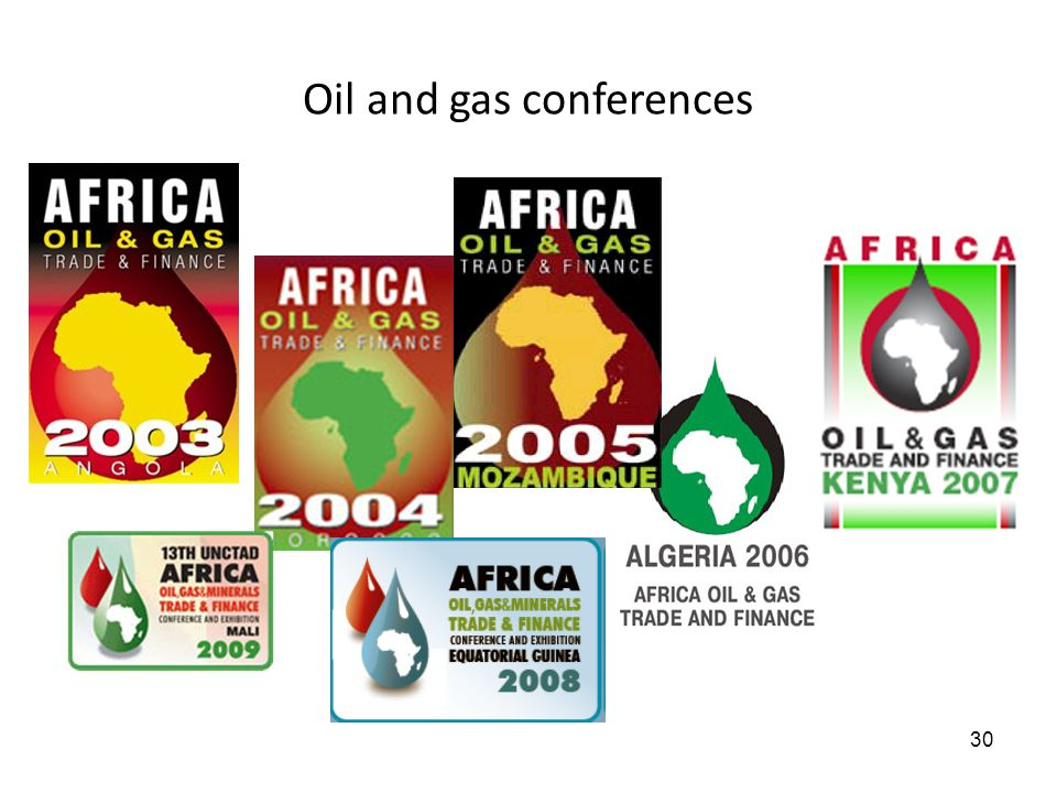 Oil and gas conferences 30