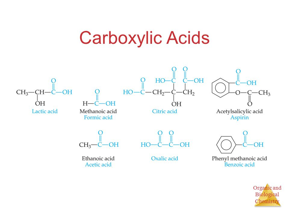 Organic and Biological Chemistry Carboxylic Acids