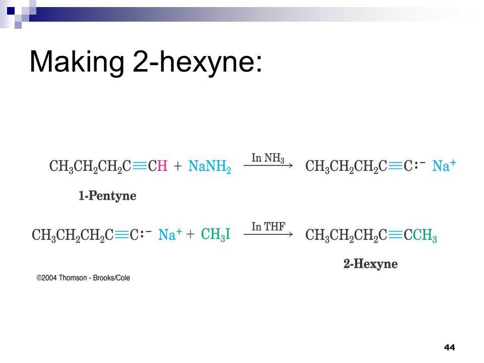 44 Making 2-hexyne: