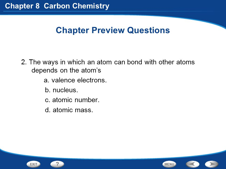 Chapter 8 Carbon Chemistry Section 2 Quick Quiz What property do all hydrocarbons have.