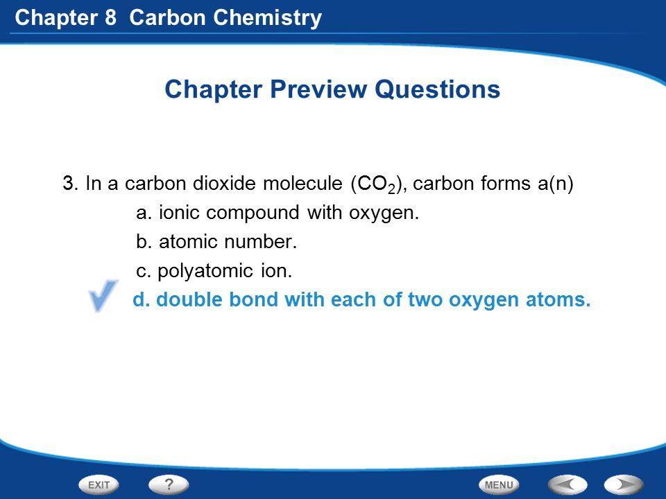 Chapter 8 Carbon Chemistry Forms of Pure Carbon What are the four forms of pure carbon.