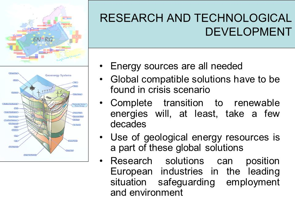 Energy sources are all needed Global compatible solutions have to be found in crisis scenario Complete transition to renewable energies will, at least