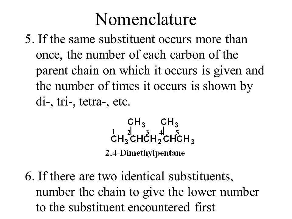 Nomenclature 5.