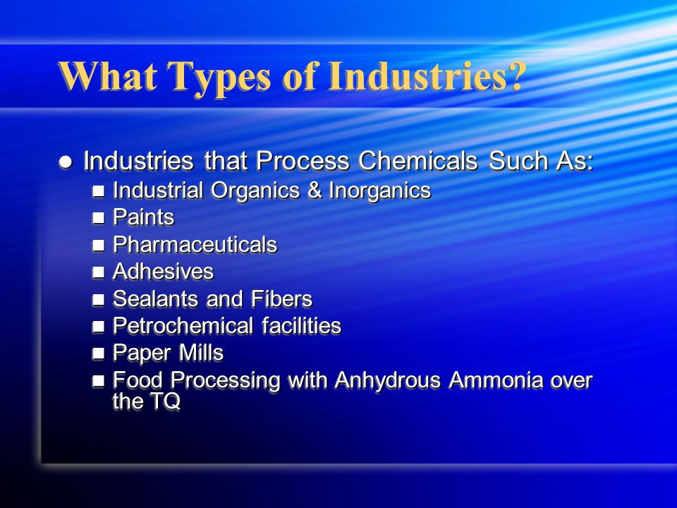 What Types of Industries.
