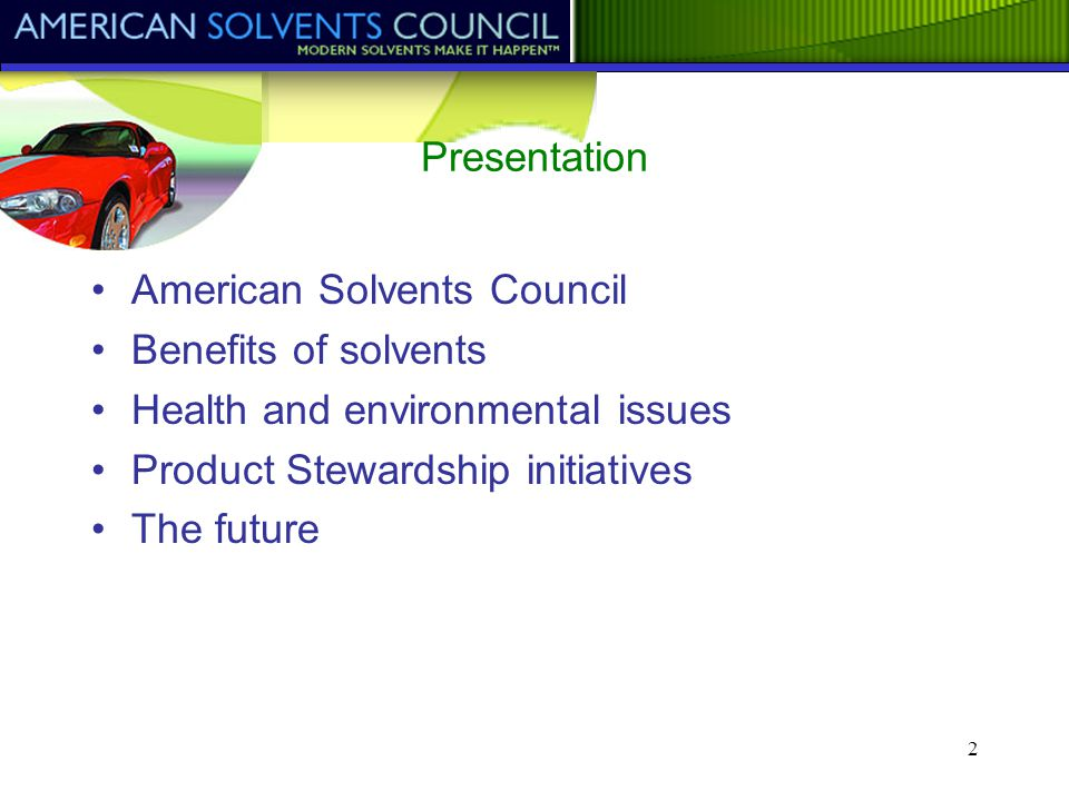 American Solvents Council - part of the American Chemistry Council American Solvents Council American Solvents Council Task Groups Acetone Panel Ethylene and Propylene Glycol Ethers Panel Ethylene Glycol Panel Hydrocarbon Solvents Panel Isopropanol Panel Ketones Panel Oxo Process Panel Toluene/Xylene Panel Education/ Communication Education/ Communication Atmospheric Reactivity Atmospheric Reactivity International Associations CEFIC (ESIG), JCIA End-User Associations (NPCA, NACD, CSPA, etc.) Applied Exposure Assessment Applied Exposure Assessment
