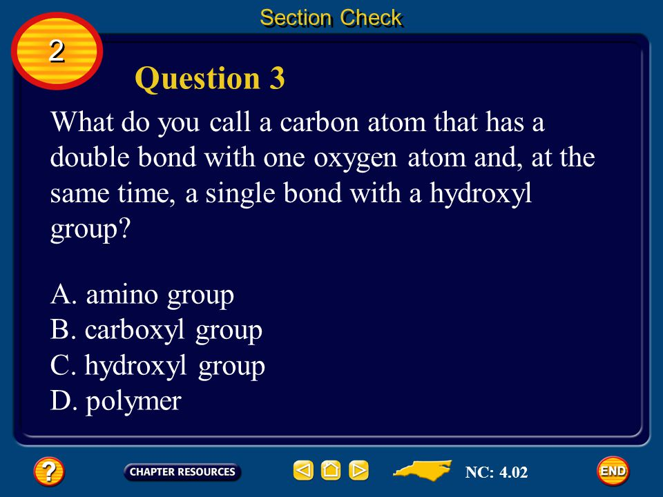 2 2 Section Check Answer The symbol refers to a hydroxyl group. NC: 4.02