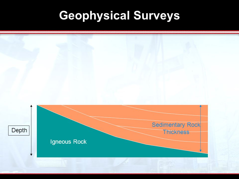 Geophysical Surveys Igneous Rock Sedimentary Rock Thickness Surface Depth