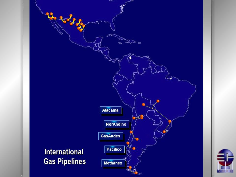 GasAndes Pacífico NorAndino Atacama Methanex International Gas Pipelines
