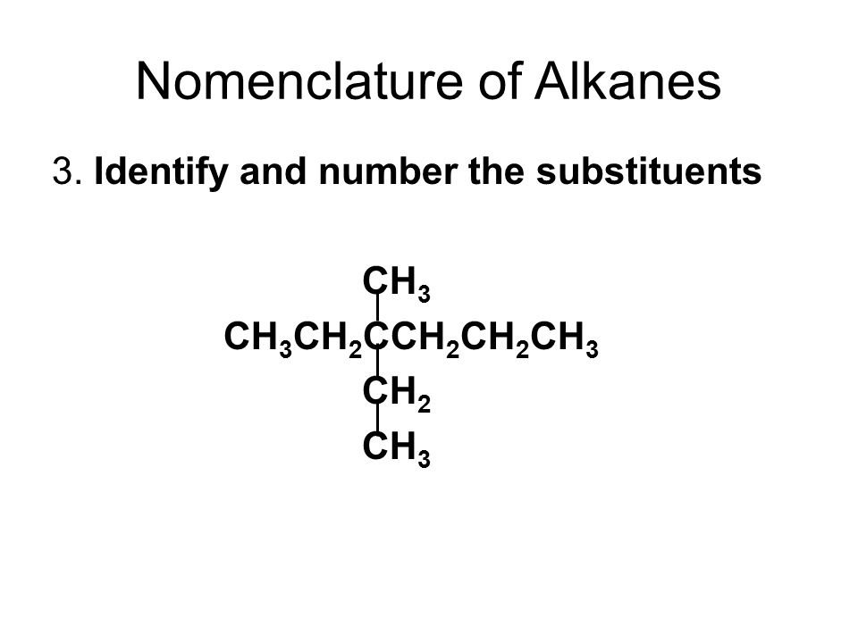 Nomenclature of Alkanes 3.