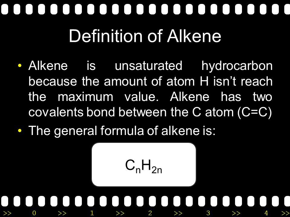 >>0 >>1 >> 2 >> 3 >> 4 >> Alkene and Alkyne