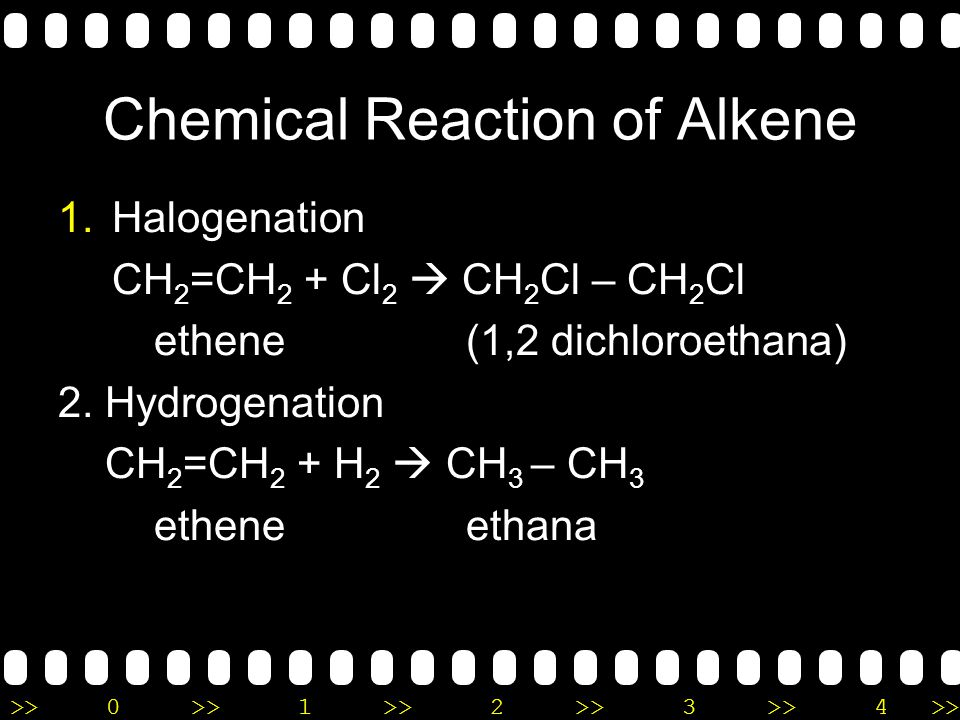 >>0 >>1 >> 2 >> 3 >> 4 >> Physical Properties of Alkene & alkyne Non polar Insoluble in water Lower density than water