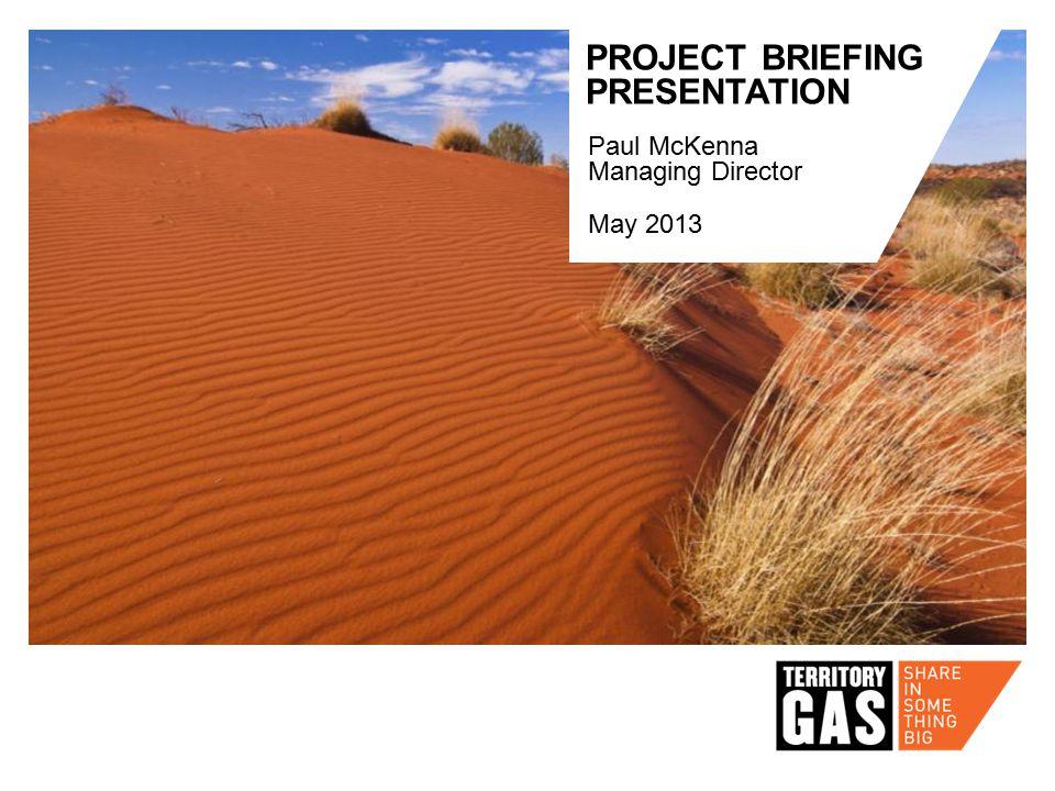 PROJECT BRIEFING PRESENTATION May 2013 Paul McKenna Managing Director