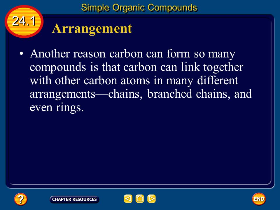 Structural Isomers 24.1 Simple Organic Compounds The answer lies in the arrangement of the four carbon atoms.