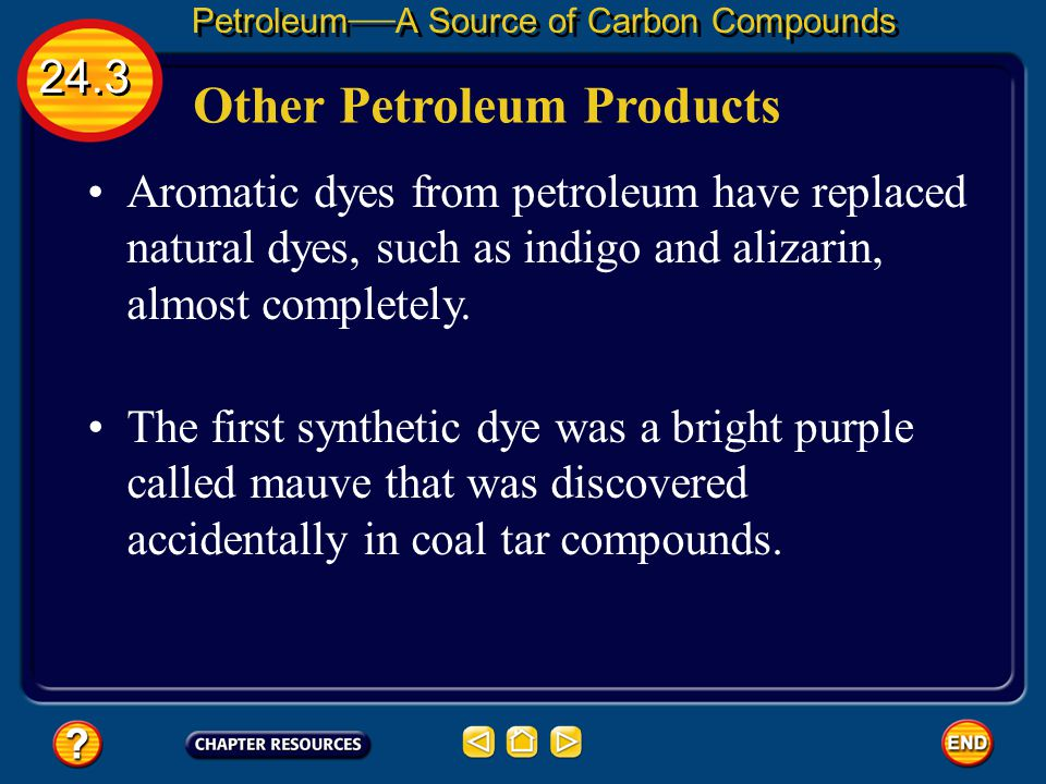 24.3 Petroleum — A Source of Carbon Compounds Bulletproof vests are made of tightly woven, synthetic polymer. Designing Polymers Other polymers can be