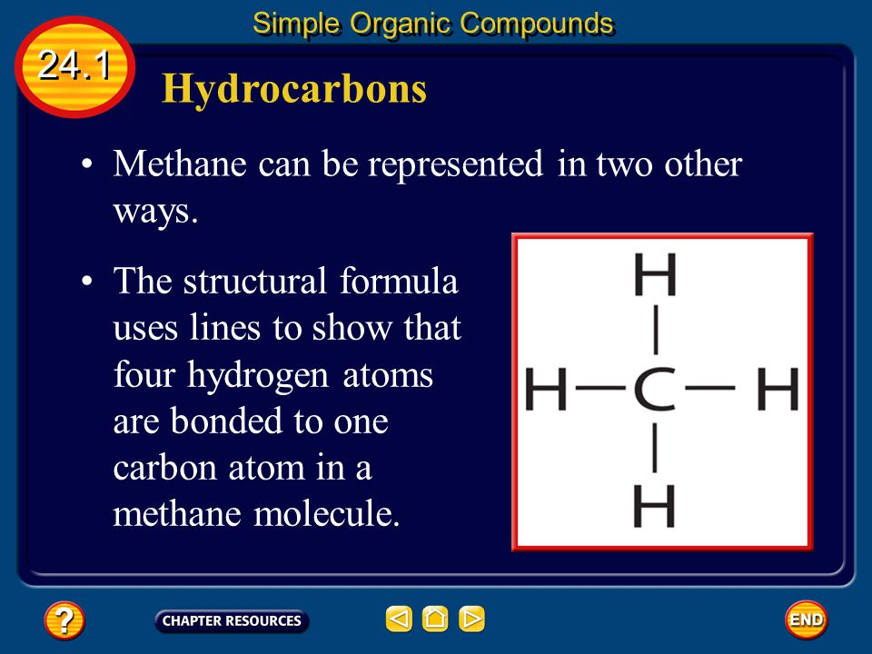 Structural Isomers 24.1 Simple Organic Compounds You can see this pattern in the table.