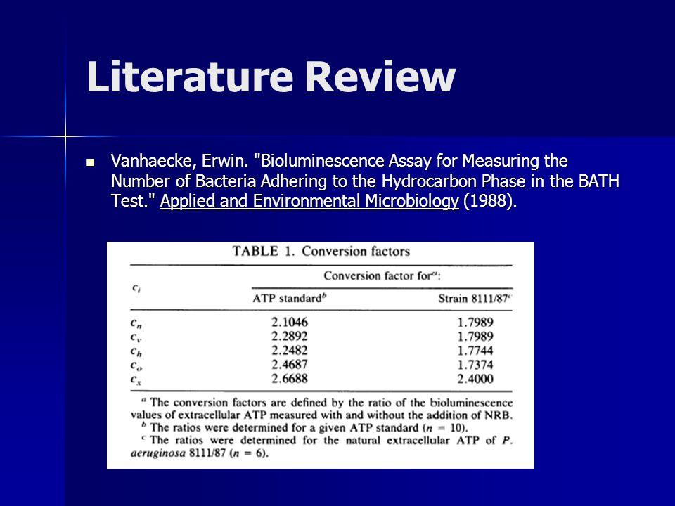 Literature Review Vanhaecke, Erwin.