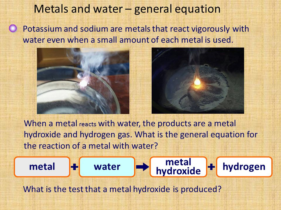 Hydrogen is prepared in the laboratory by the action of acids on metals.