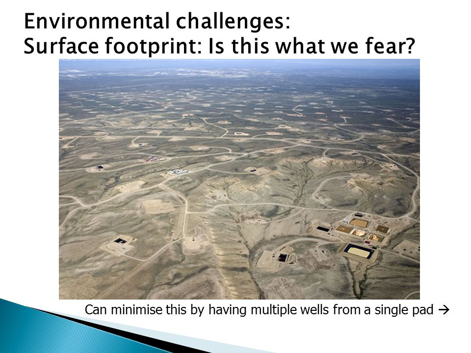 Environmental challenges: Surface footprint: Is this what we fear.