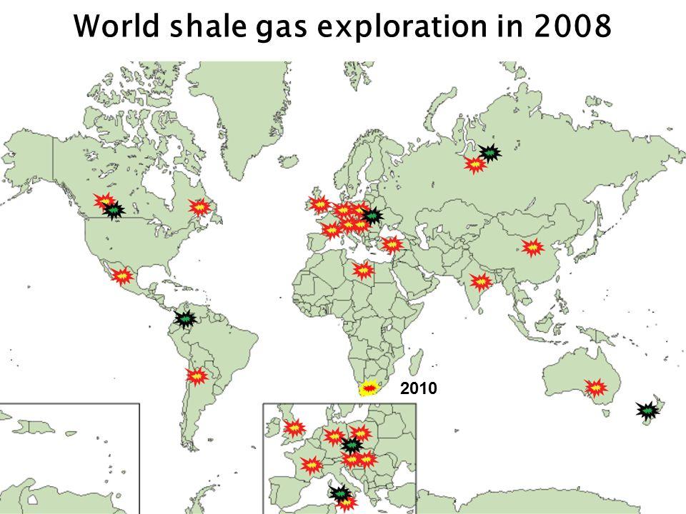 Shale gas permit areas Karoo shale gas exploration in 2010 ~250,000 square kilometres > 5 TCF