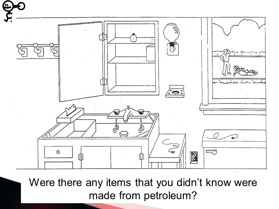 Were there any items that you didn't know were made from petroleum?
