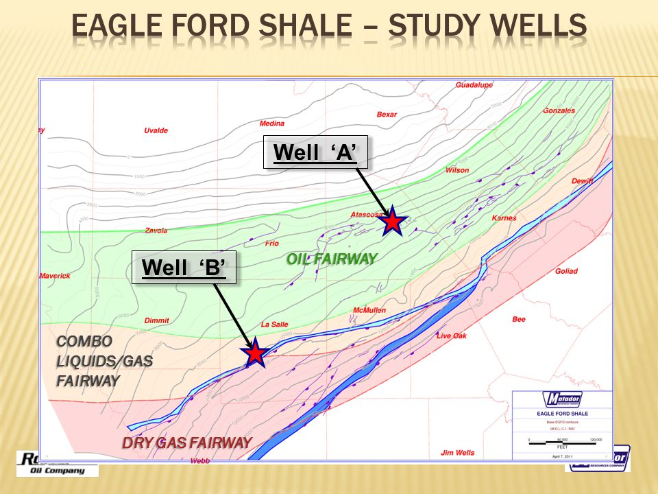 OIL FAIRWAY DRY GAS FAIRWAY COMBOLIQUIDS/GASFAIRWAY Well 'A' Well 'B'