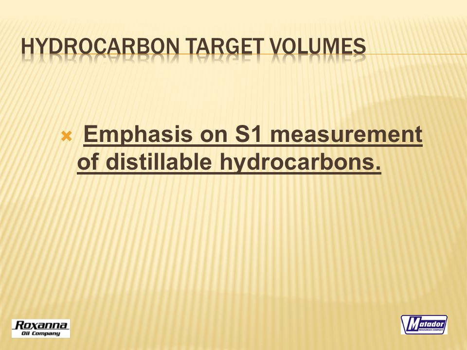  Emphasis on S1 measurement of distillable hydrocarbons.