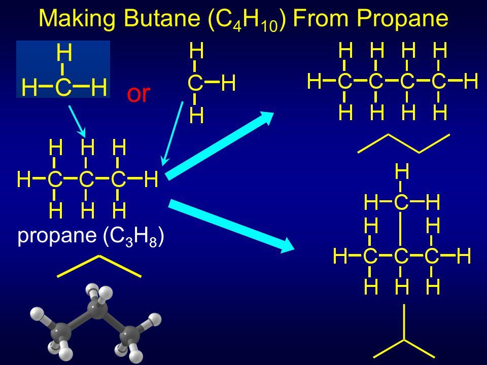 propane (C 3 H 8 ) or Making Butane (C 4 H 10 ) From Propane