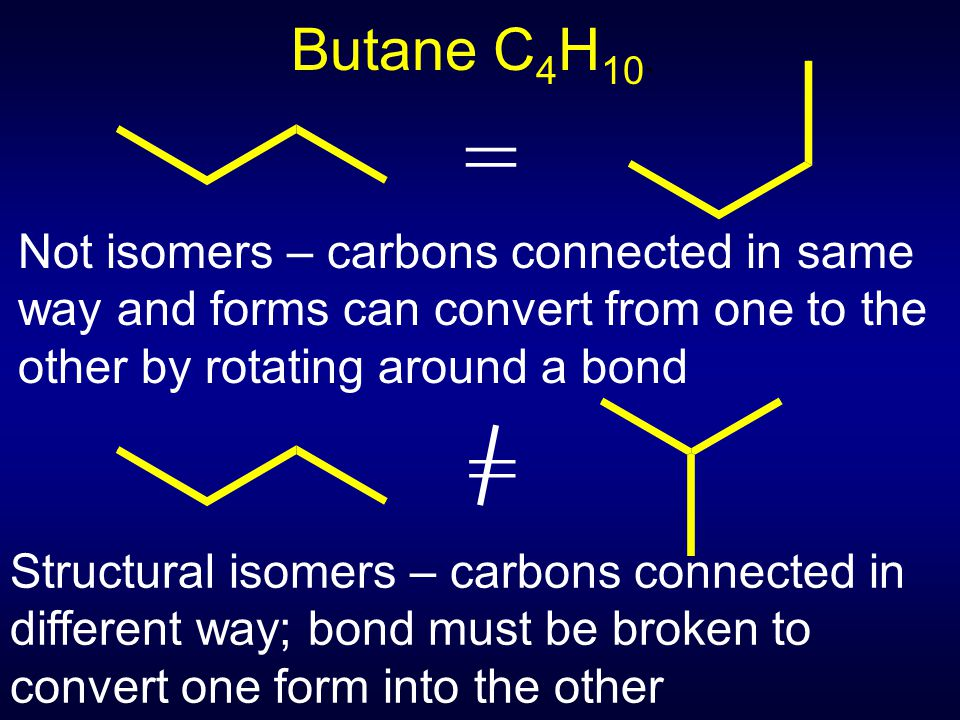 Butane C 4 H 10.