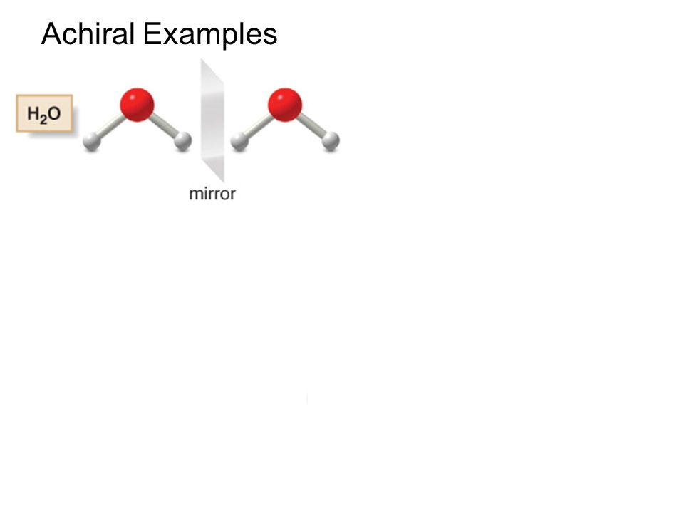 65 Achiral Examples