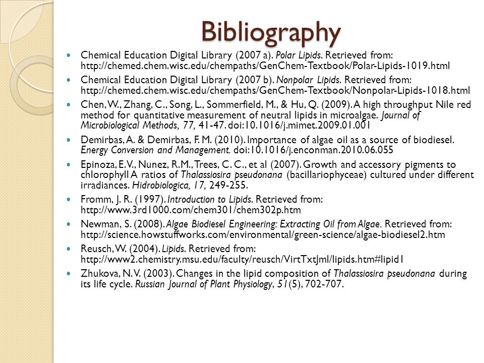 Bibliography Chemical Education Digital Library (2007 a).