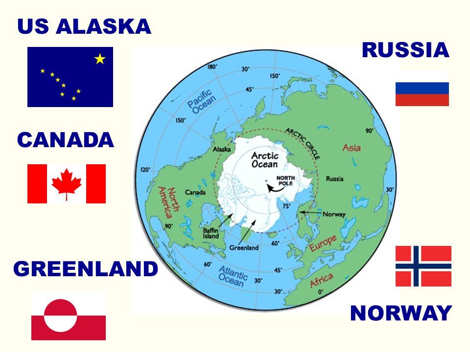 RUSSIA NORWAY US ALASKA CANADA GREENLAND