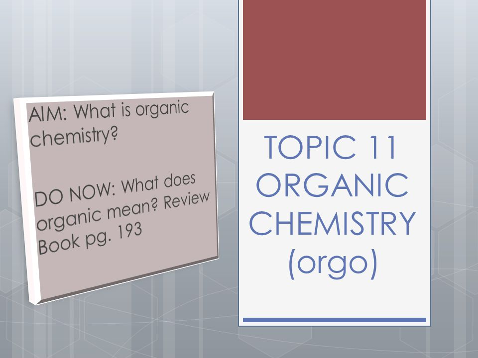 HOW CAN WE NAME ORGANIC HYDROCARBON?- IUAP 1.