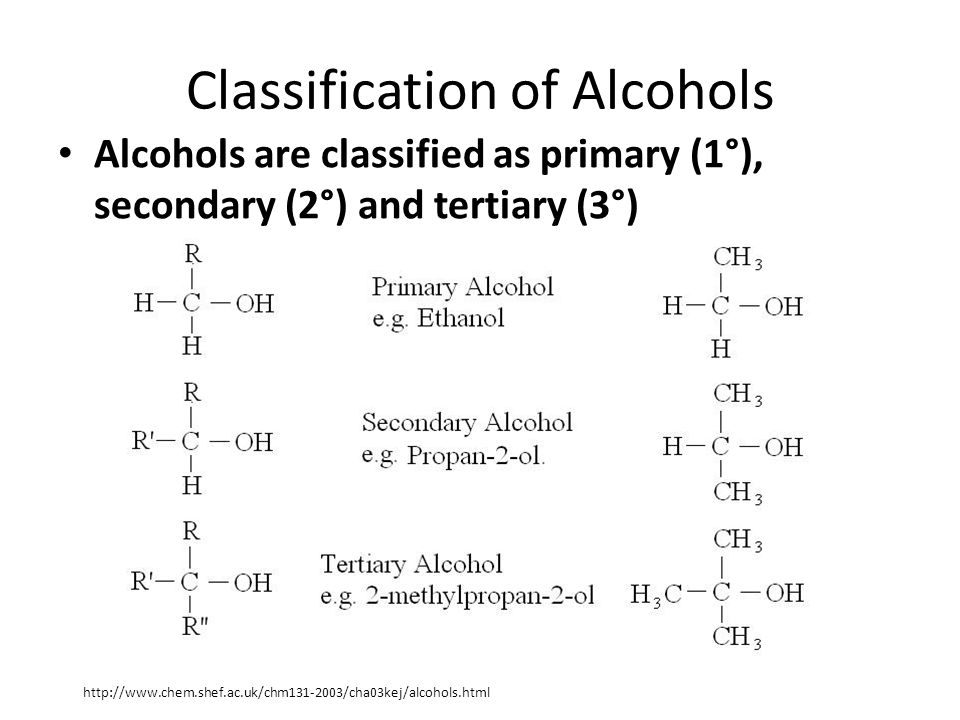 Reactions of Alcohols 1) Preparation of alcohols: 2) Dehydration of alcohols: 3) Oxidation reactions: