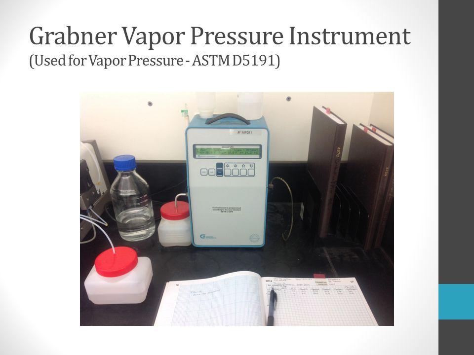 Grabner Vapor Pressure Instrument (Used for Vapor Pressure - ASTM D5191)