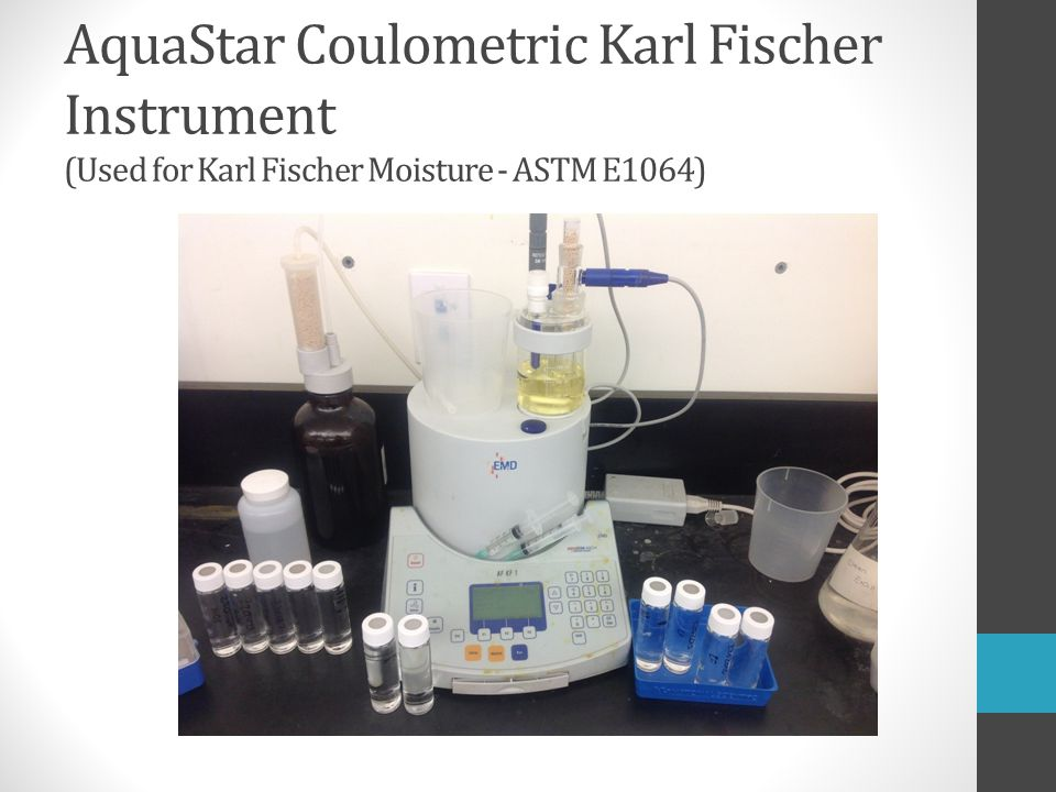AquaStar Coulometric Karl Fischer Instrument (Used for Karl Fischer Moisture - ASTM E1064)