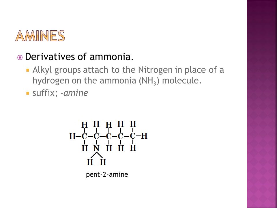  Derivatives of ammonia.
