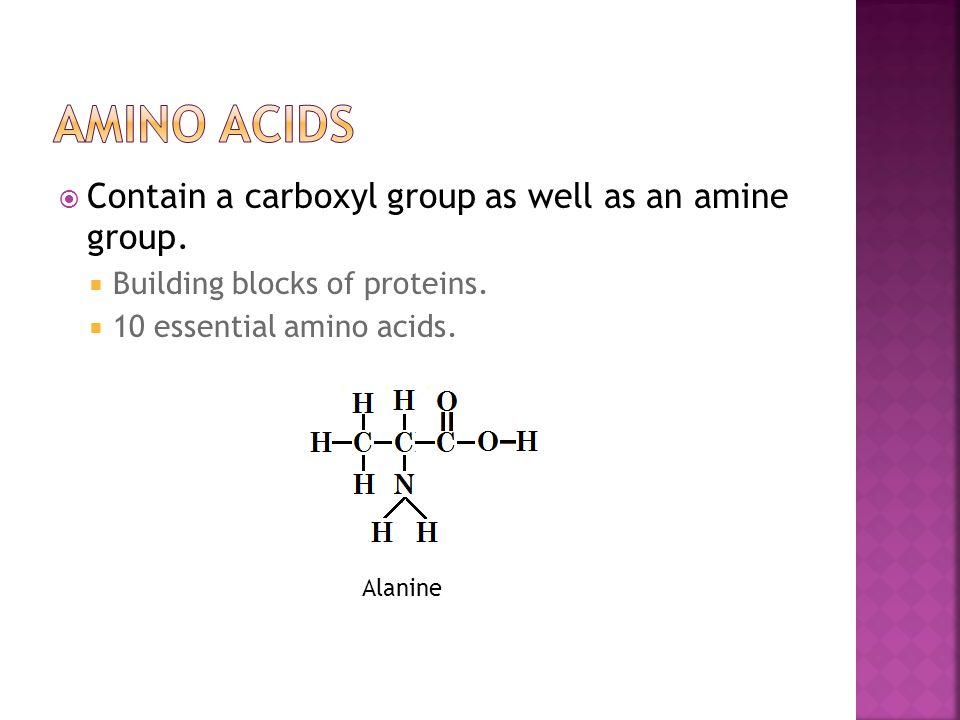  Contain a carboxyl group as well as an amine group.