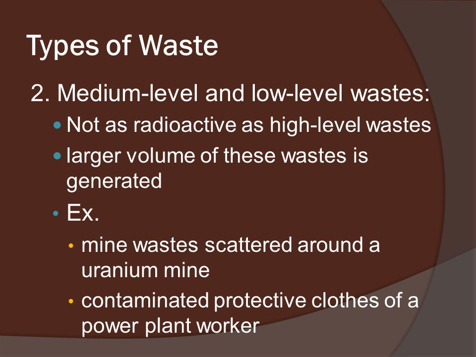 Types of Waste 2.
