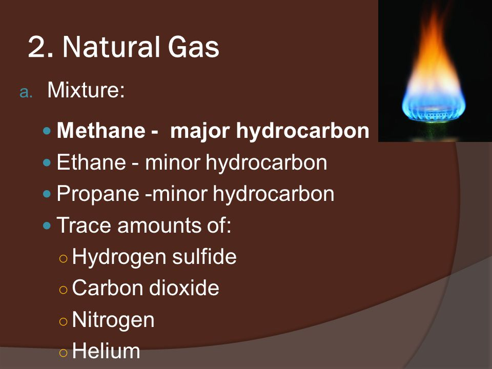 2. Natural Gas a.