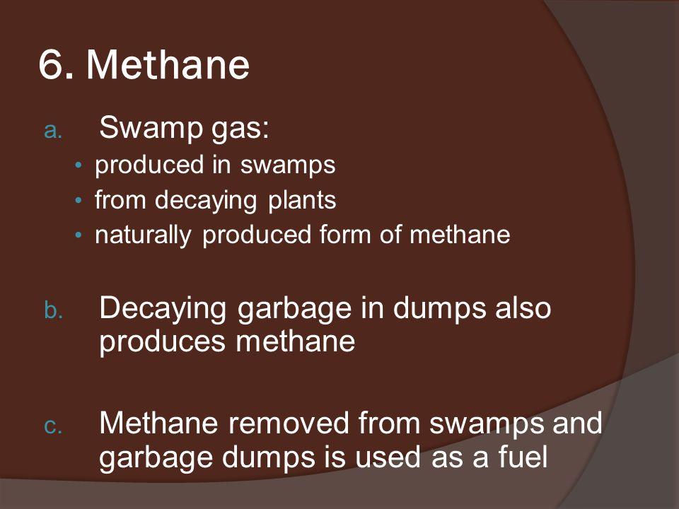 6. Methane a.