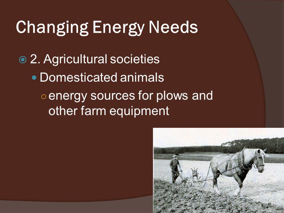 Changing Energy Needs  2.
