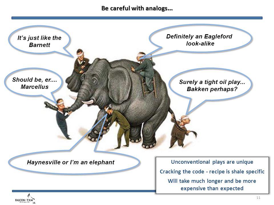 It's just like the Barnett Haynesville or I'm an elephant Should be, er....