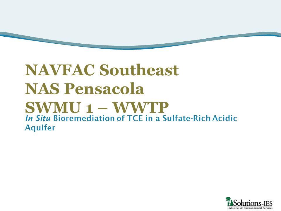 NAVFAC Southeast NAS Pensacola SWMU 1 – WWTP In Situ Bioremediation of TCE in a Sulfate-Rich Acidic Aquifer