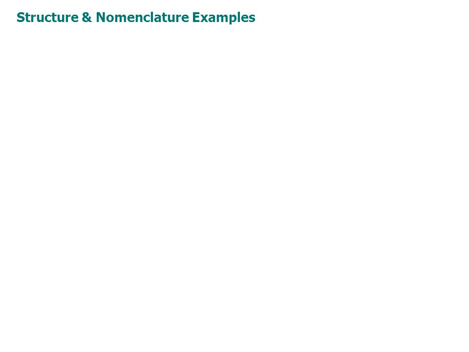 Structure & Nomenclature Examples