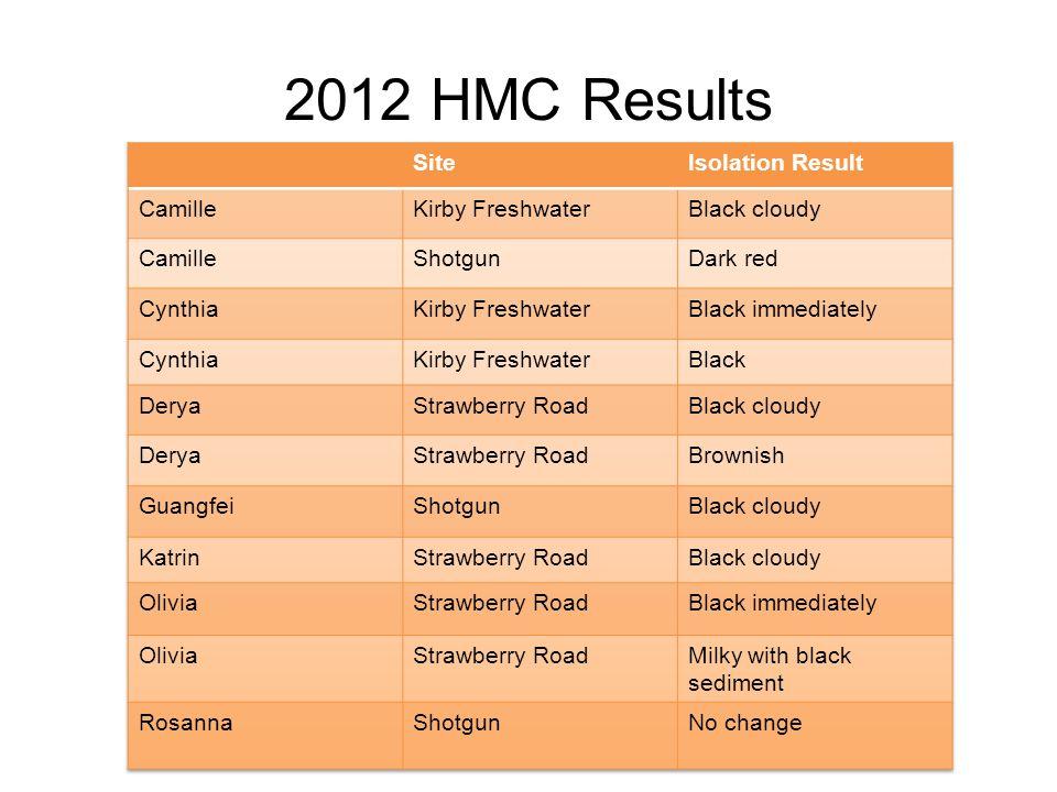 2012 HMC Results