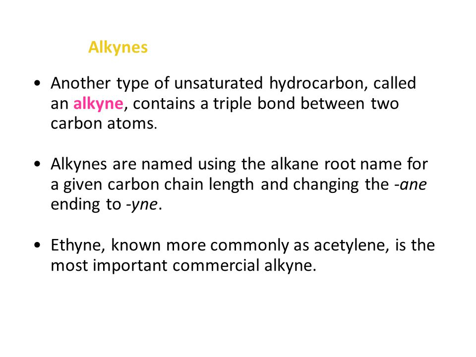 Alkenes An unsaturated alkene can be converted into a saturated alkane by adding hydrogen to the double bond.