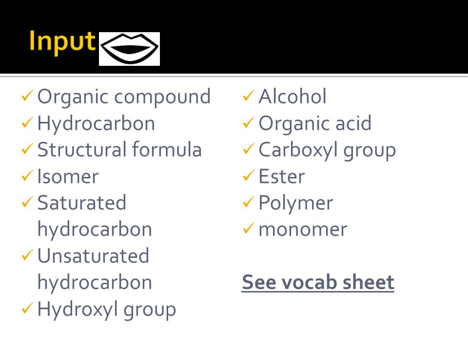 Organic Compounds  Many organic compounds have similar properties in terms of melting points, boiling points, odor, electrical conductivity and solubility.