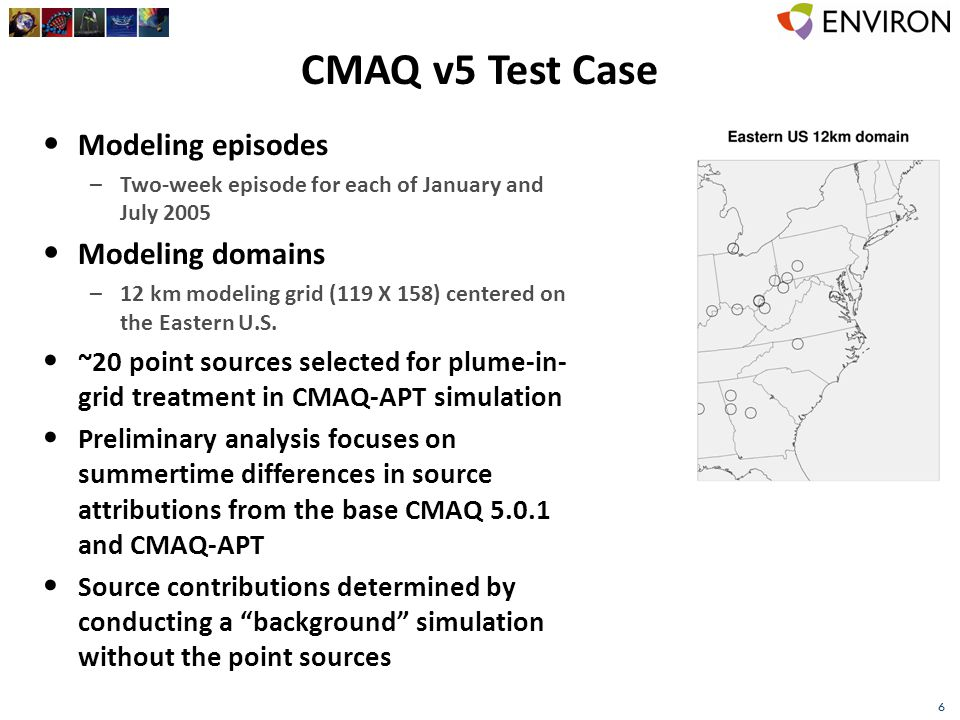 7 Source Contributions to Daily Max 8-hour O 3 July 9, 2005 Base CMAQ 5.01CMAQ-APT 5.01APT-Base