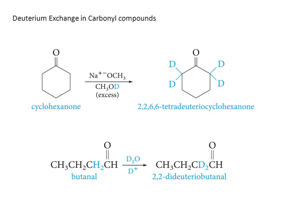 Deuterium Exchange in Carbonyl compounds